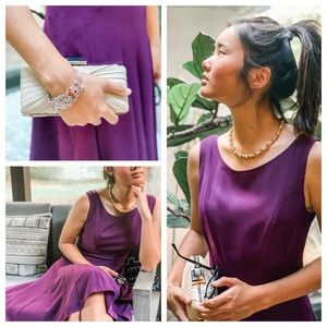Theory Fit and Flare Shell dress in Plum. Size 6